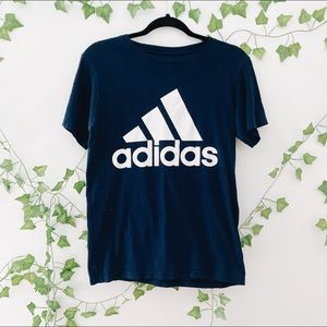 Vintage Adidas Navy Blue Graphic Tee